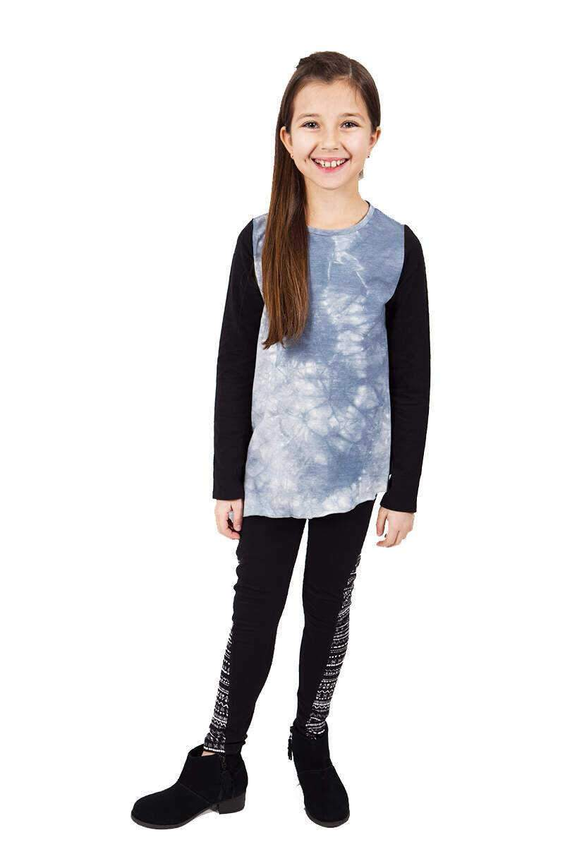 Rhona Tie Dye Top + Printed Legging Set