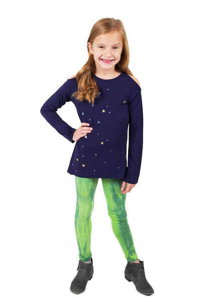 Robyn Sequin Star Top + Lime Tie Dye Legging Set