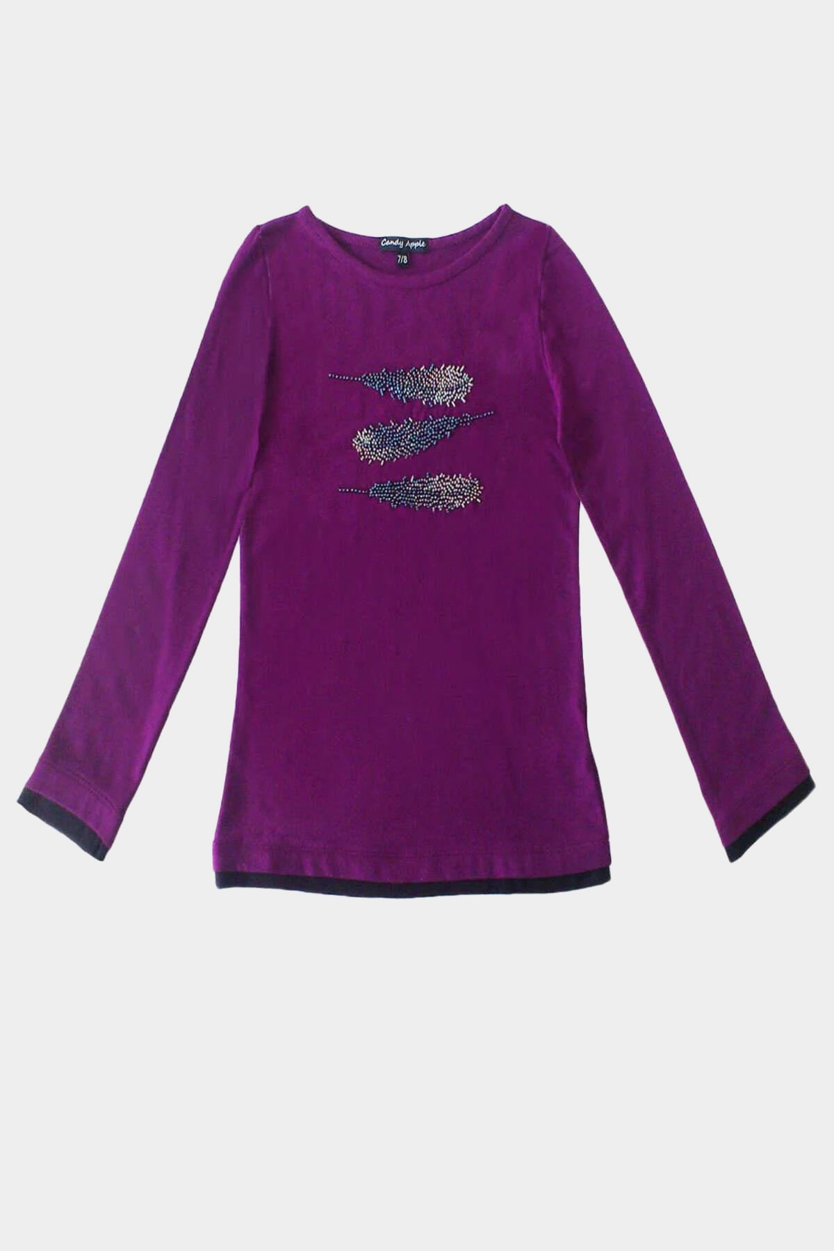 Savana - Beaded Feather Long Sleeve Top