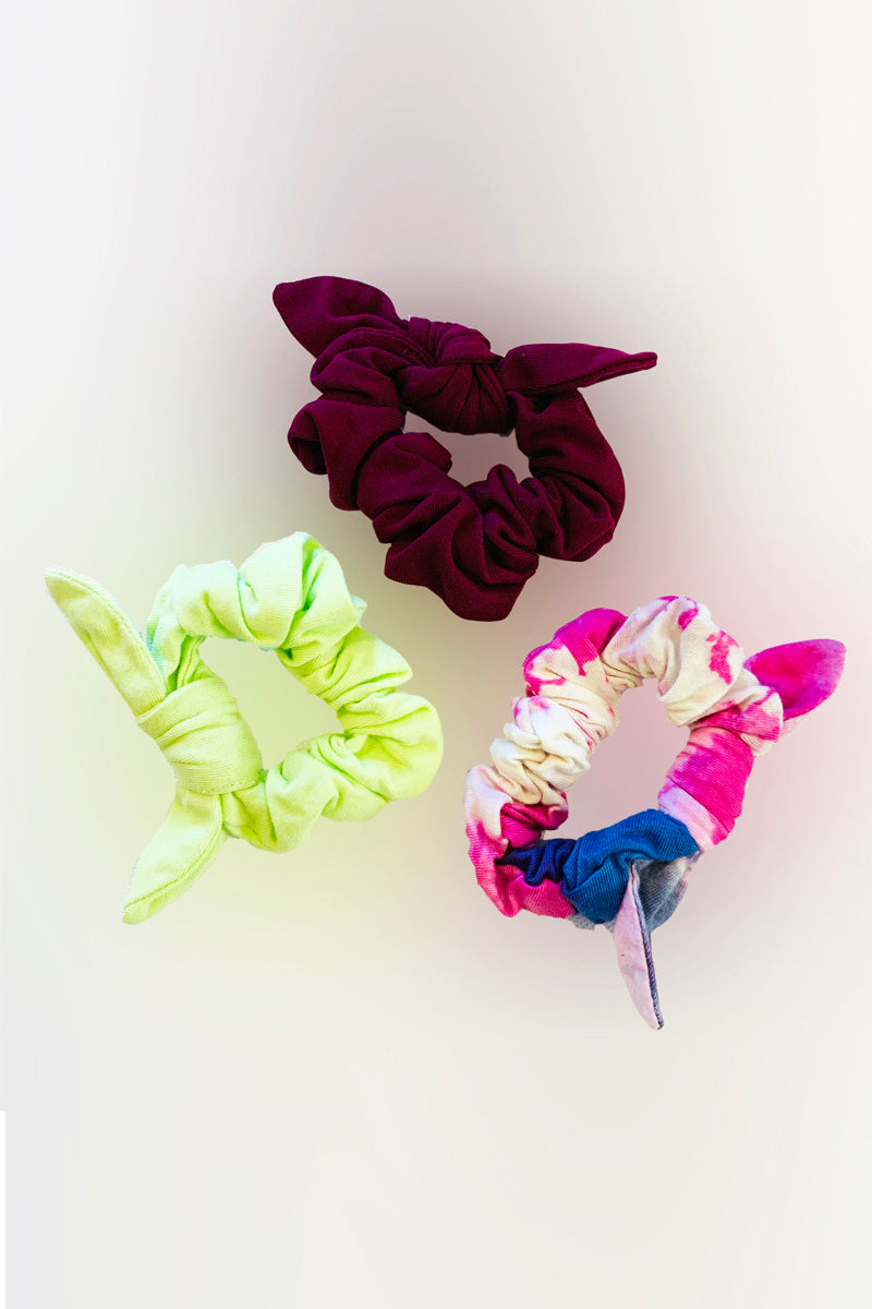 Bow Scrunchies - Assorted 3 pack