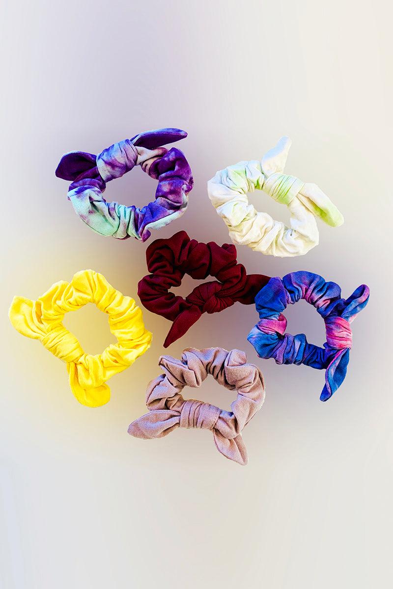 Bow Scrunchies - Assorted 6 pack