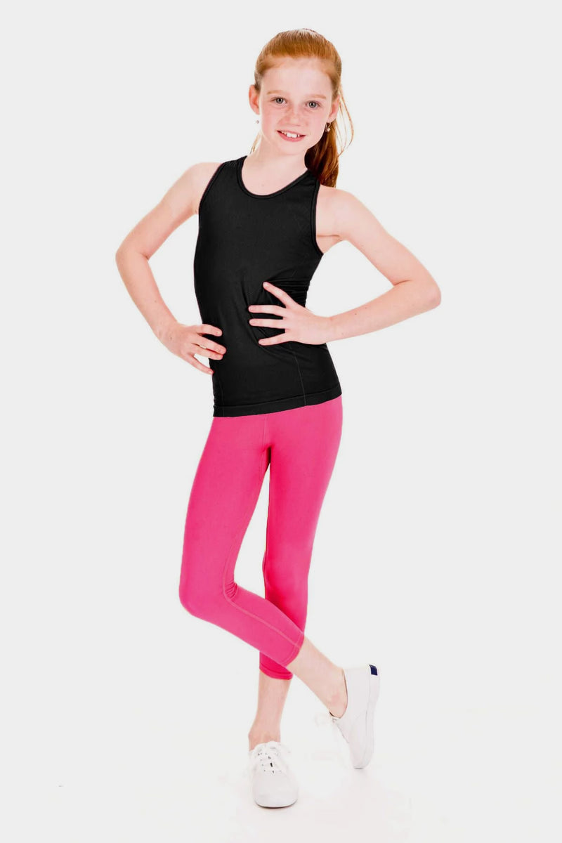 Active Gear Capri Leggings - Fuchsia