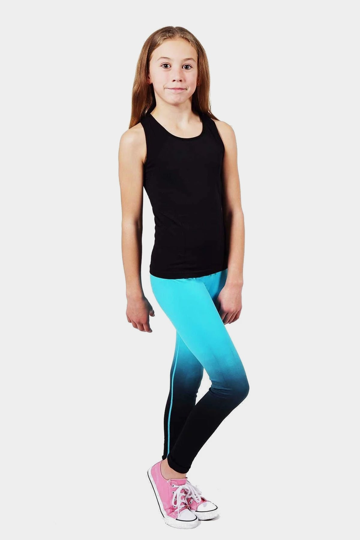Active Gear Leggings - Turquoise Black