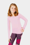 Seamless Basic Activewear Long Sleeve Top - Light Pink