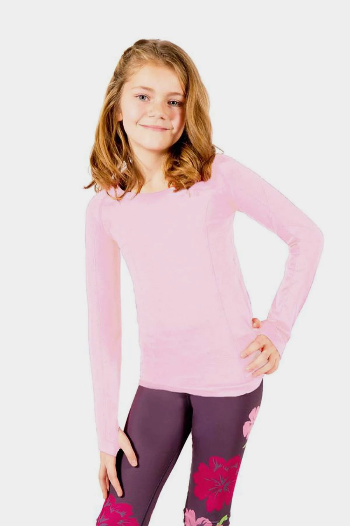 Active Gear Long Sleeve Top - Light Pink
