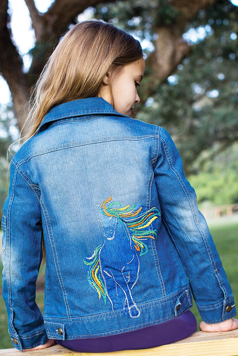 Spirit - Horse Beaded Jean Jacket