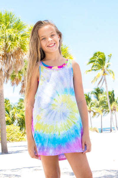 Tofino - Tie Dye Rainbow Swim Cover Up Dress