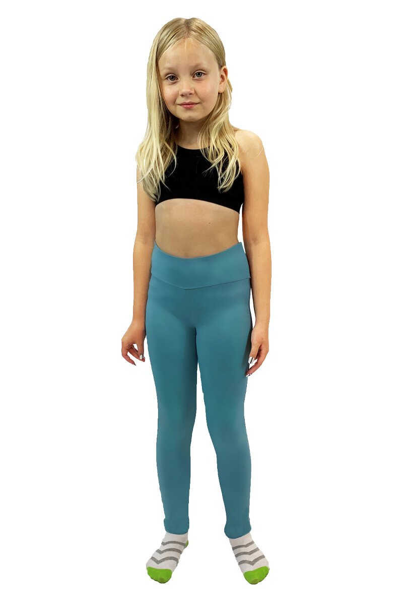 Essential Leggings - Aqua Blue TIE DYE