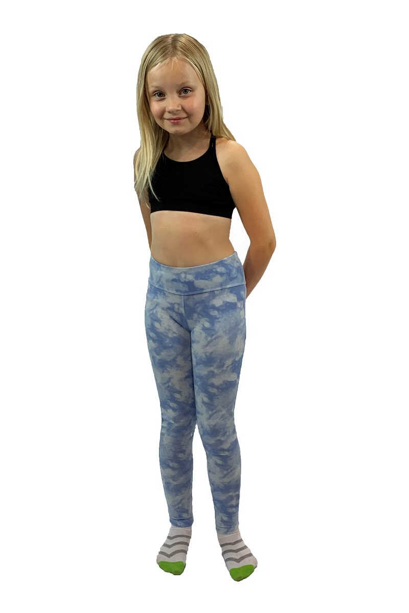 Essential Leggings - Blue Tie Dye