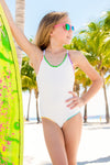 Piura - Textured White One Piece Swimsuit
