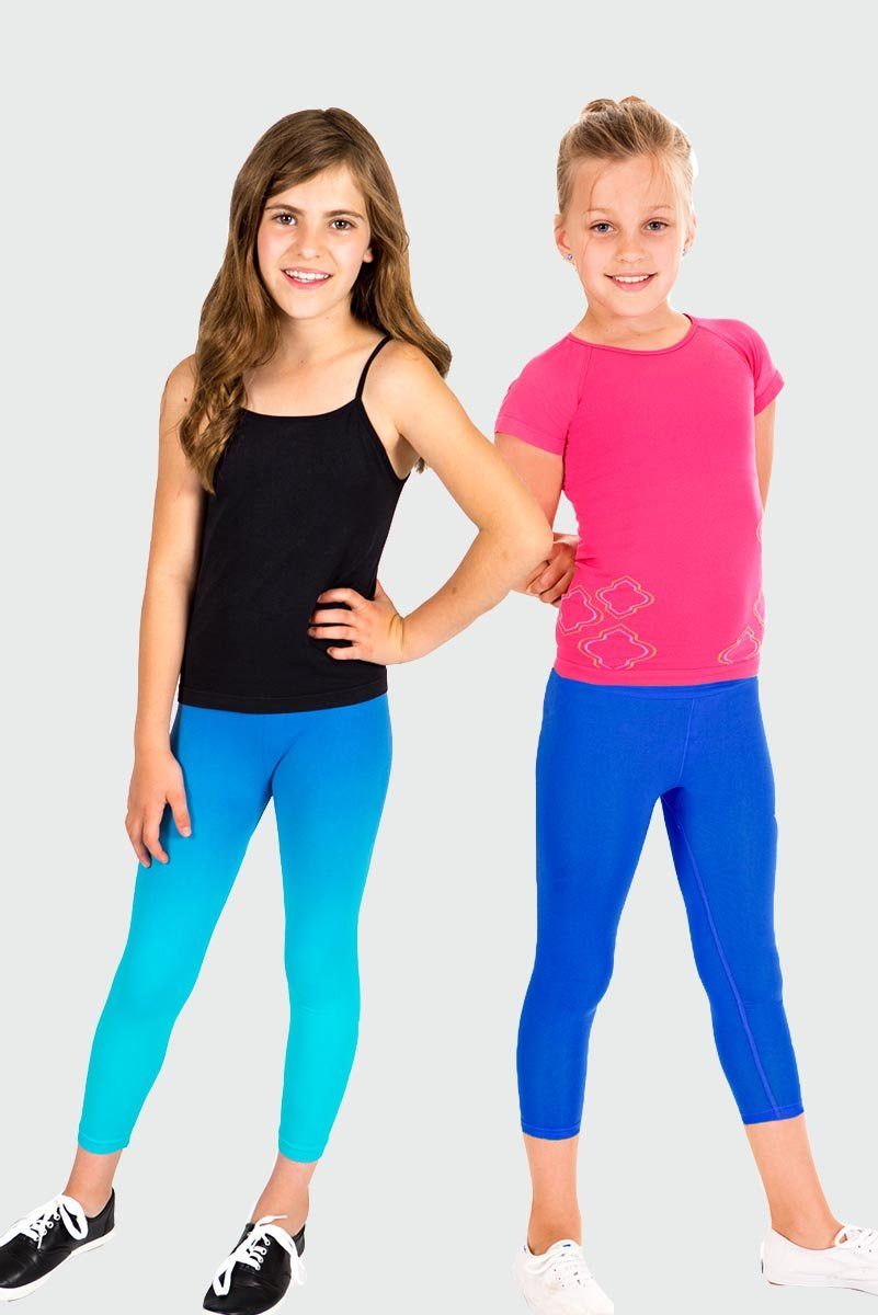 Seamless Activewear Capri Legging 2 Pack - Navy Dip Dye and Blue