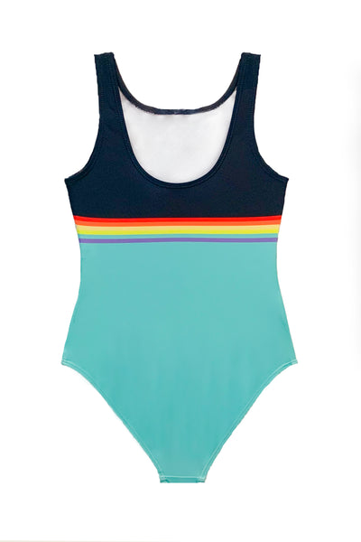 Joaan - Colorblock Cut-out One Piece Swimsuit