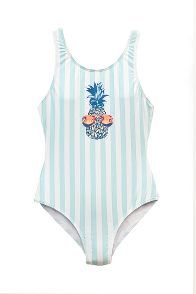 Liza -  Pineapple One Piece Swimsuit