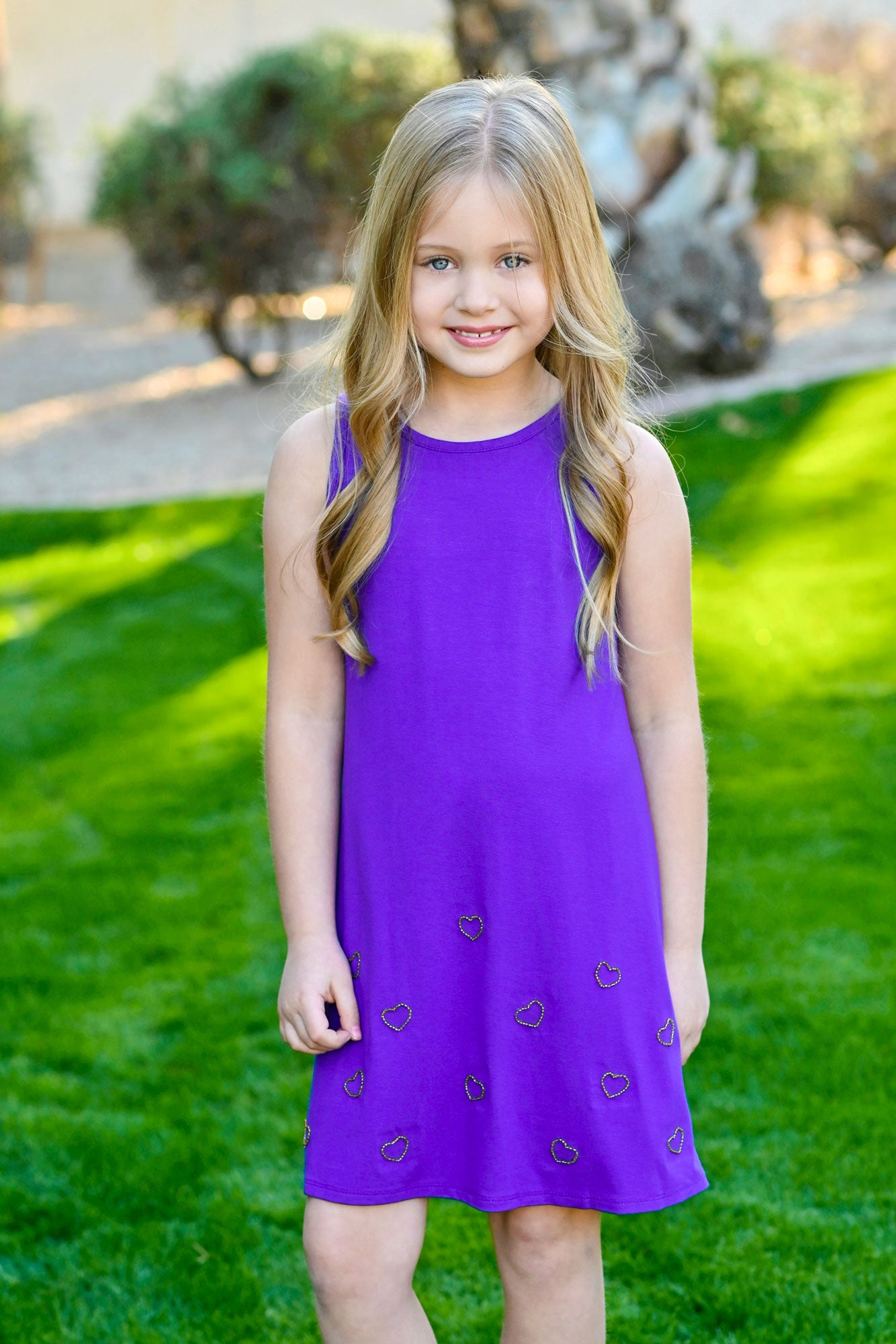 Gemma - Purple Beaded Tank Dress