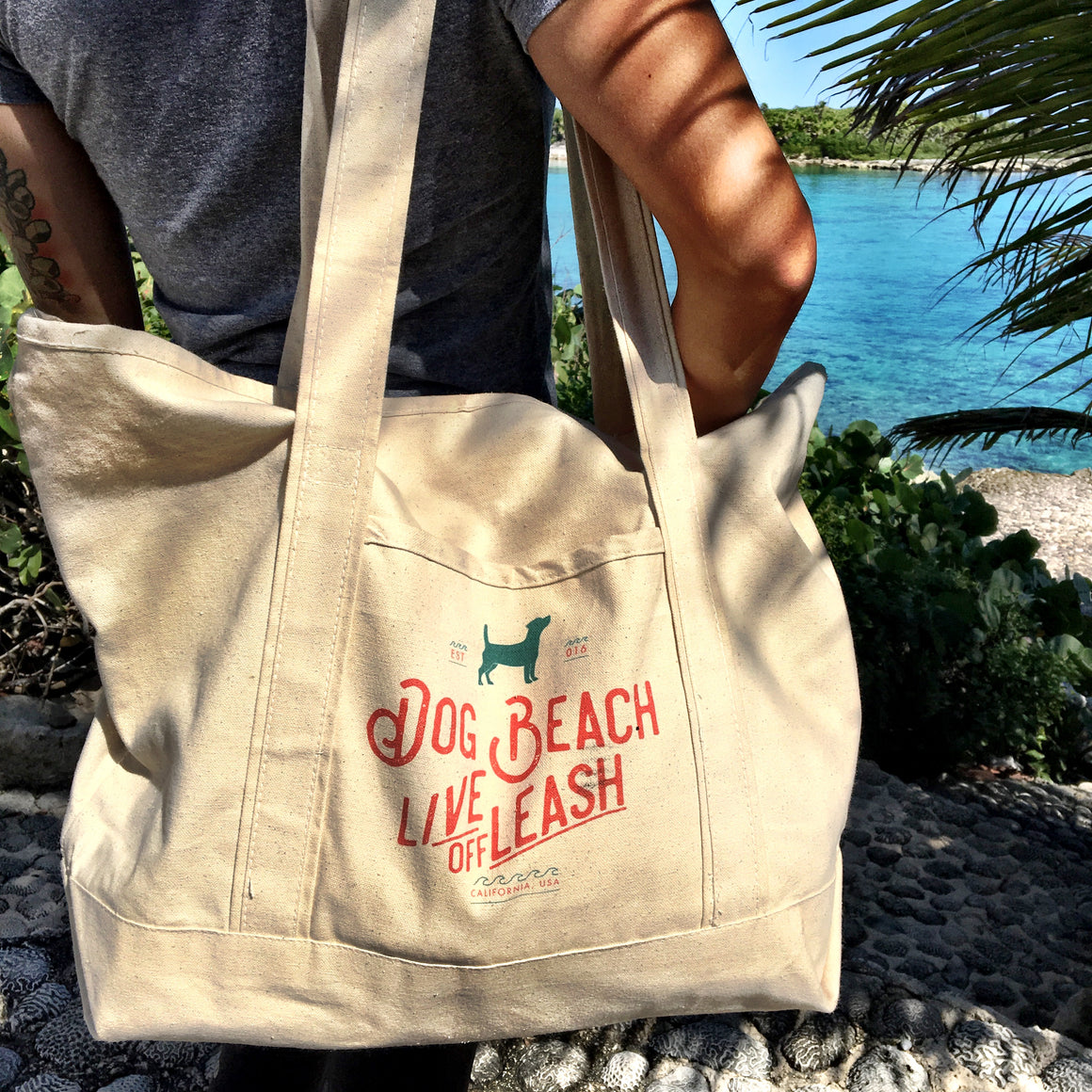 Vintage Collection Giant Canvas Beach Tote