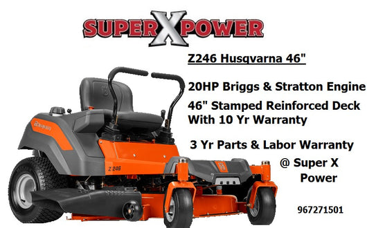 Husqvarna z246 zero turn lawn mower 967271501