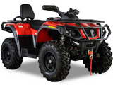 Hisun Tactic 750 2 Up ATV color red