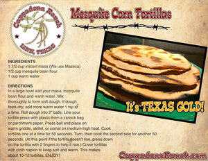 Mesquite Bean Tortilla Recipe