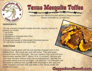 Texas Mesquite Toffee Recipe