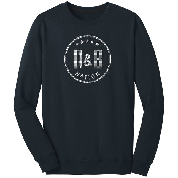 Blinged Out D&B Nation! Unisex L/S (navy)