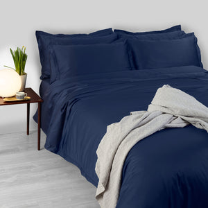 430TC Sateen Hemstitch Duvet Cover