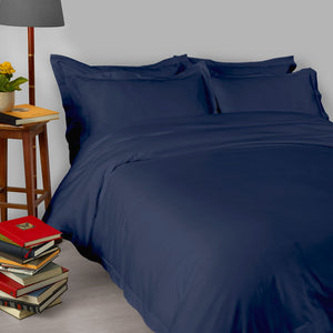430TC Sateen Satin Stitch Duvet Cover