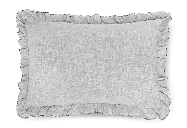Certified Masters of Linen.  Yarn dyed linen. Made in Portugal. Grey