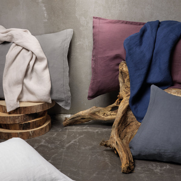 Stonewashed Linen Pillowcases