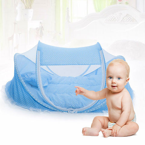 Baby Foldable Crib with Mosquito Net