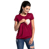 Image of MATERNITY/ NURSING TOP - BREASTFEEDING SHORT SLEEVE T-SHIRT