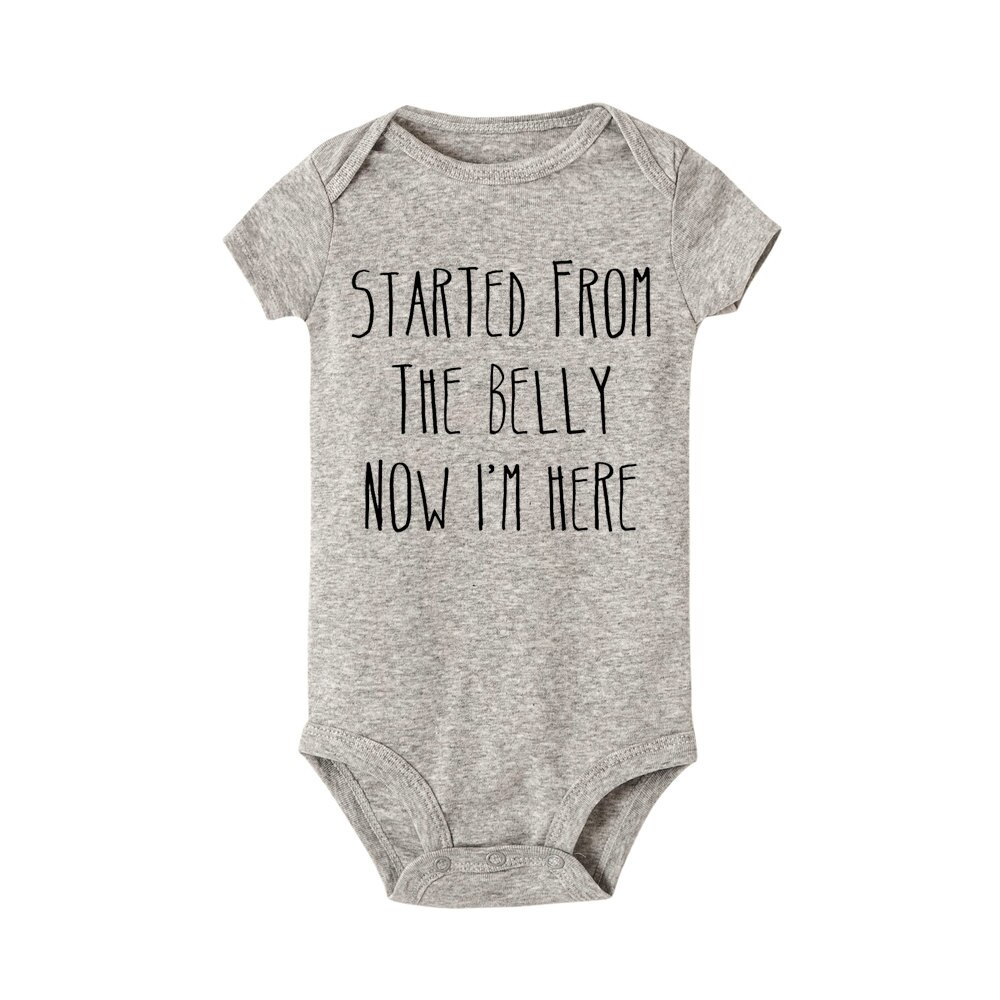 """Started From The Belly"" Romper"