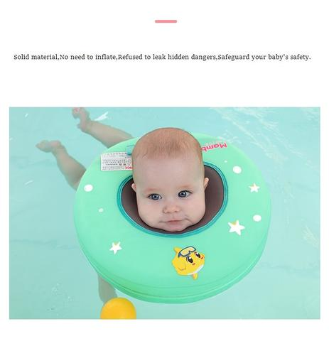 Safe & Solid Baby Neck Ring Swimming Float