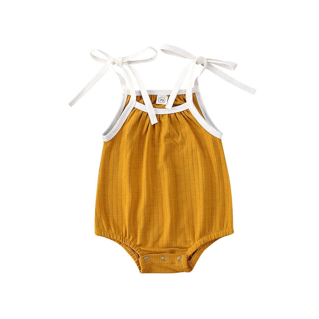 Maple Ribbed Romper