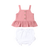 Image of Mable Bloomer Set - Dusty Rose Top & White Bloomer