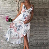 Image of Maternity Irregular Ruffle Hem Cami Dress