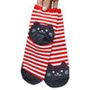 Image of Hot Cute Cat Footprints Striped Soft Socks