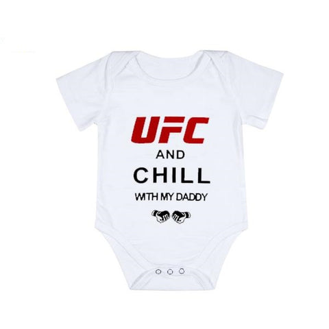 """UFC And Chill With Daddy"" Romper"