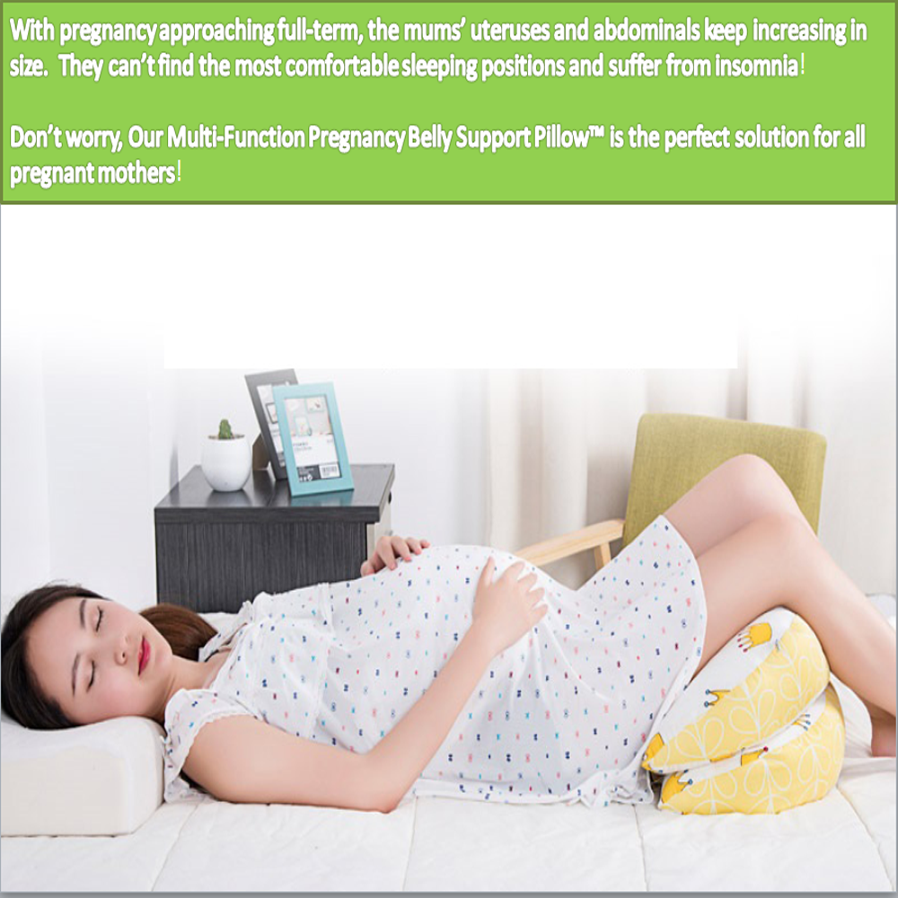 PREGNANCY BELLY & BACK SUPPORT PILLOW