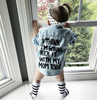 Image of Kick It With Mom Denim Shirt