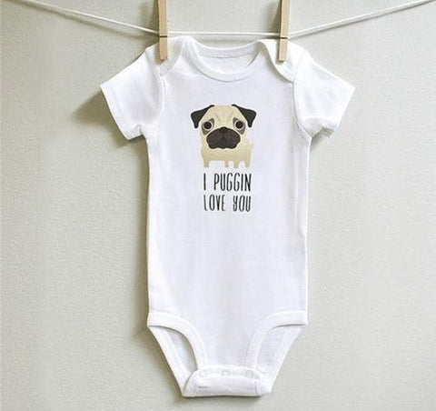 """I Puggin Love You"" Romper"