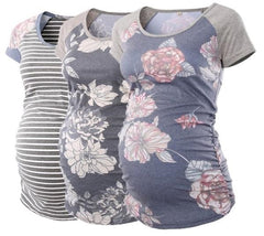Three Pack Maternity Tunic Tee