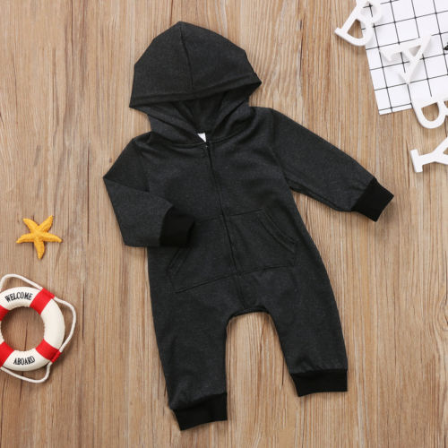 HEATHER HOODED ZIPPER ROMPER