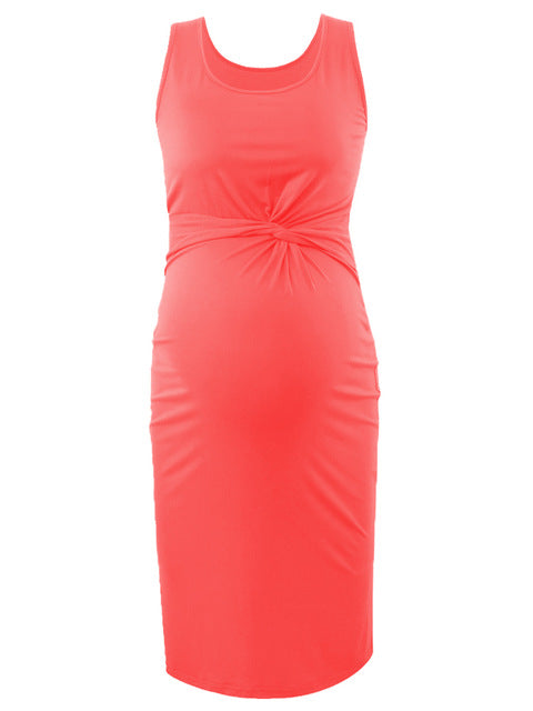 Cute Sleeveless Fitted Maternity Dresses