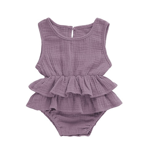 Solid Tutu Romper - Purple