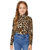 Image of GIRLS LEOPARD PRINT LONG SLEEVE TOP (AGE 6-14YRS)