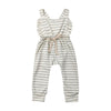 Image of Striped Ruffle Romper Overalls