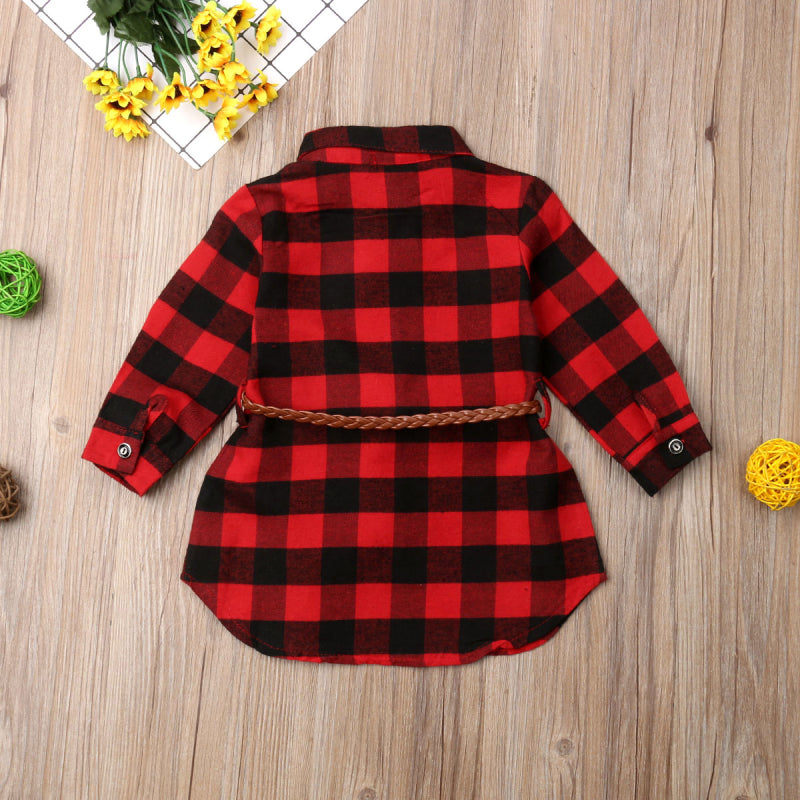 Plaid Toddler Dress