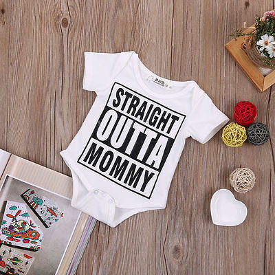 """Straight Outta Mommy"" Romper"