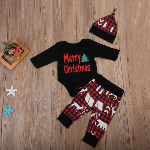 BLACK MERRY CHRISTMAS SET
