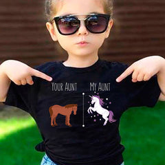 Your Aunt My Aunt Unicorn T-shirt